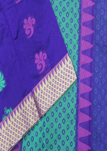 Violet Pure Silk Cotton Saree - FJ4115