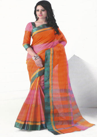 Multi Color Pure Cotton Saree - FX5447