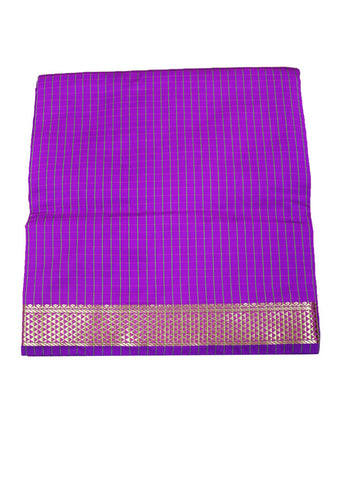 Lavender cotton nine yards Saree