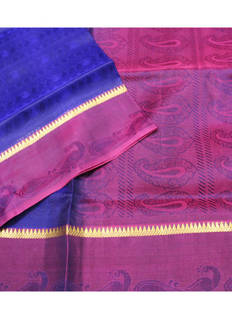 Blue Light weight Kanchipuram Silk Saree