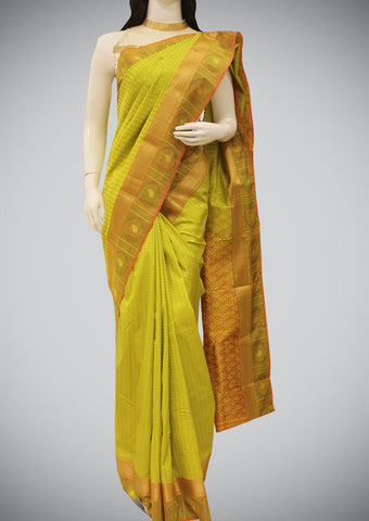 Pista Green Semi Soft Silk Saree