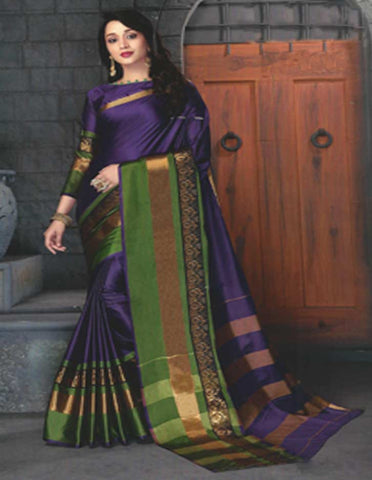 Violet Aara Cotton Saree - FE11191