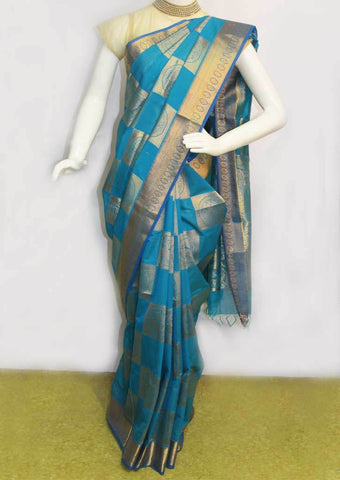 Ramar Blue Pure Silk Cotton Saree - FO1861