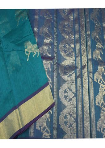 Dark Green Pure Silk cotton Saree