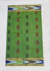 Green Nagamam Cotton Saree - FH3350