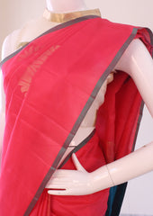 Pink with Blue Soft Silk Saree