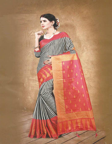 Multi Colour  Fancy Cotton Saree - FG3512