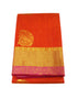 Orange Pure Silk cotton Saree