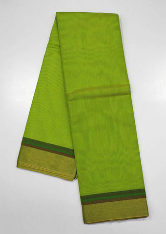 Peacock Green Pure Silk cotton Saree-ES12289