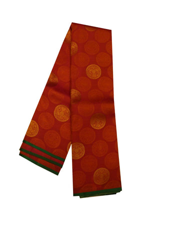 Red With Green Colour Nakshatra Pure Silk Saree