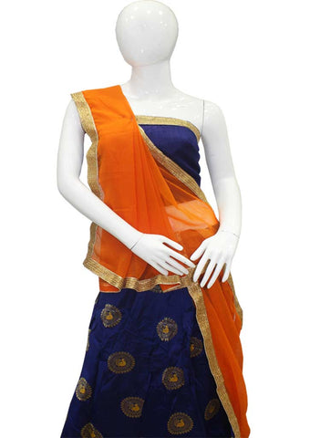 Orange With Darkblue Lehenga - FC6061