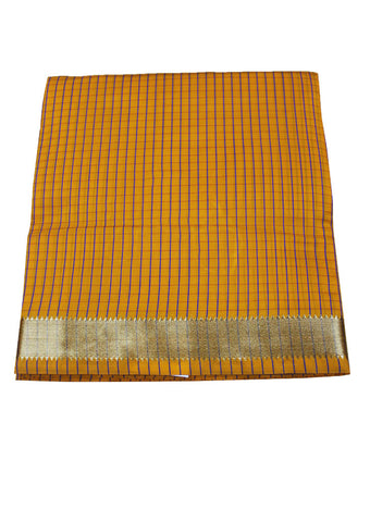Orange cotton nine yards Saree