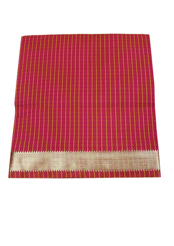 Red cotton nine yards Saree