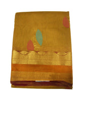 Dark Sandal Pure Silk cotton Saree