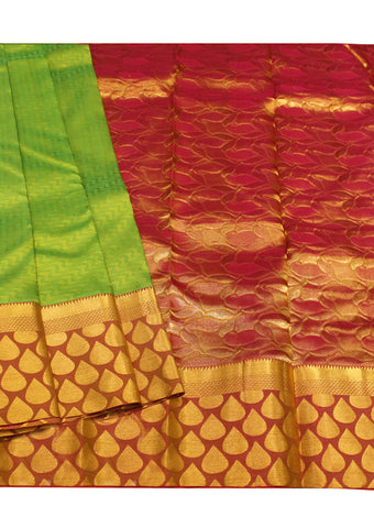 Green Kanchipuram Pure Silk Saree