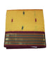 yellow cotton nine yards Saree