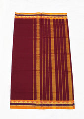 Boysenberry Pure Cotton 9.5 yards Saree
