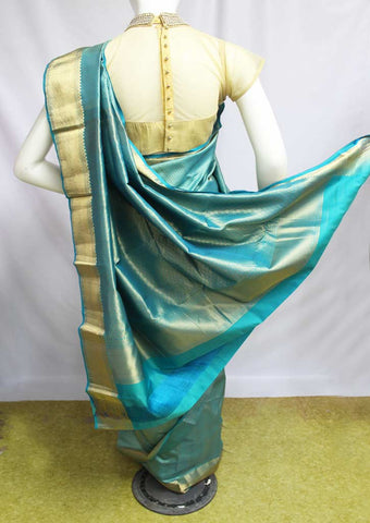 Skyblue Kanchipuram Silk Saree-FN80353
