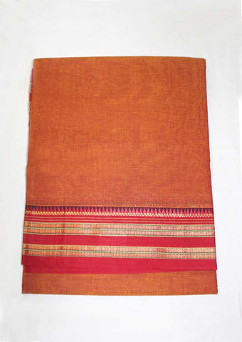 Fenugreek Pure Cotton 9.5 yards Saree - FN49258