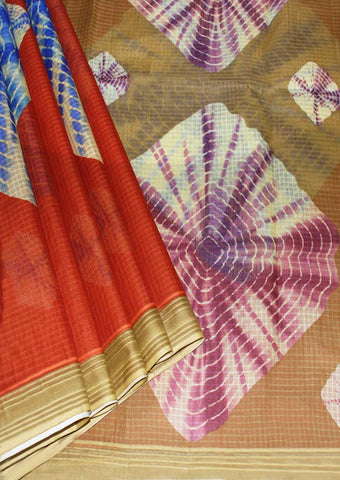 Multi Colour Pure Cotton Saree - FK33103