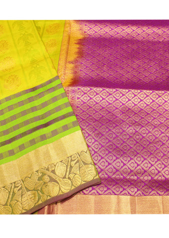 Violet Light weight Kanchipuram Silk Saree
