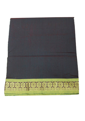 Coffee brown cotton nine yards Saree