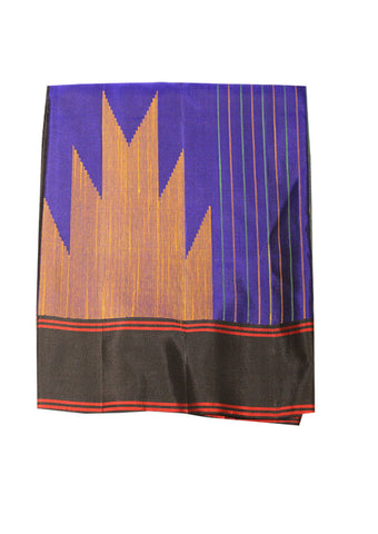 Blue With Black Mayuri Soft Silk Saree