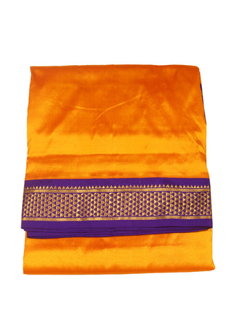 Yellow Color Ten Yards Silk Saree - FF6408