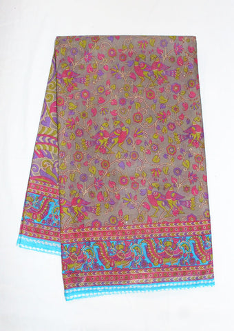 Multi Colour Pure Cotton Saree - FF21601