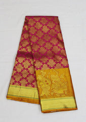Dark Rose Bridal Pure Silk Saree-FG3222