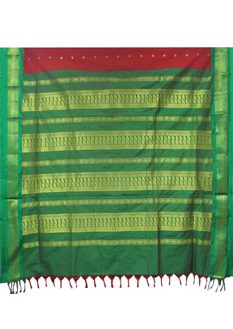 Red Kalyani Cotton nine yards Saree