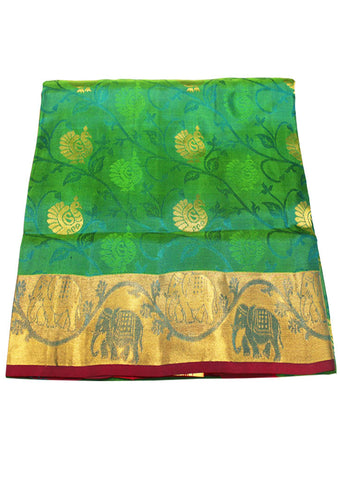 Green Light weight Kanchipuram Silk Saree