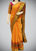 Orangish Yellow Semi Soft Silk Saree