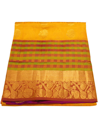 Yellow Light weight Kanchipuram Silk Saree - ES15979