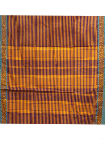 Multi Color Checked Sungudi Cotton nine yards Saree