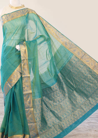 Light Green Pure Silk cotton Saree