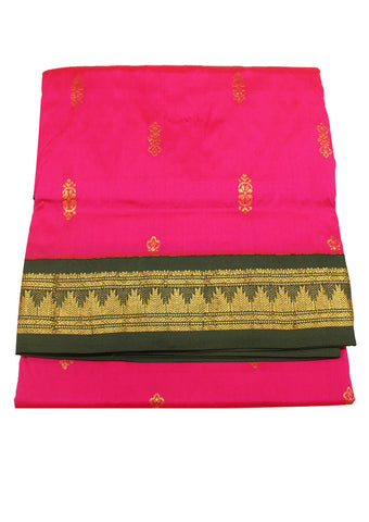 Pink Poly silk nine yards Saree