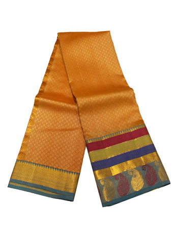 Sandal Kanchipuram Pure Silk Saree
