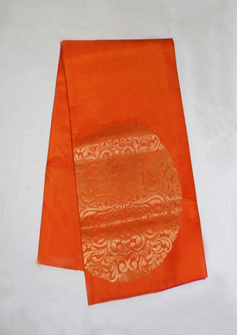 Orange With Pink Mayuri Soft Silk Saree - FL87142