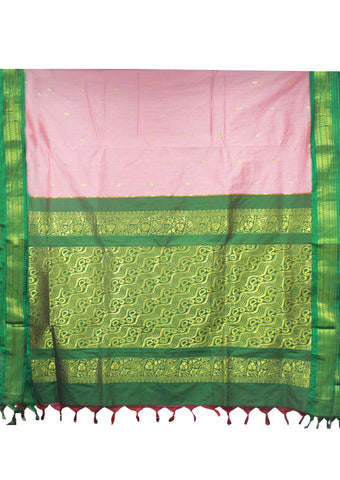 Pink Kalyani Cotton nine yards Saree
