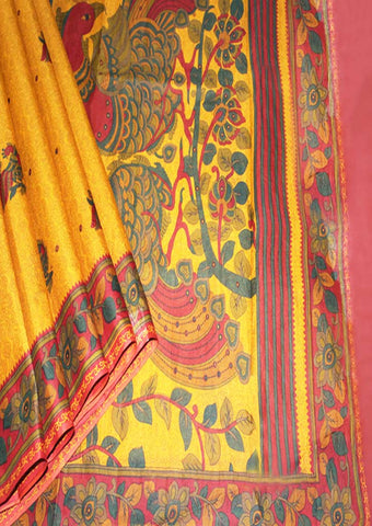 Yellow With Red Colour Pure Cotton Saree - FF21610