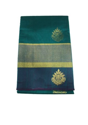 Peacock Green Pure Silk cotton Saree