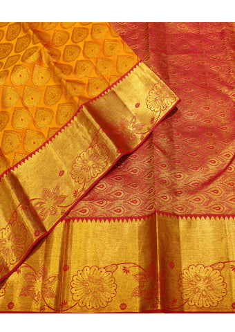 Mustard color Muhurtham Silk Saree
