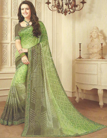 Light Green Synthetic Saree - FF19297