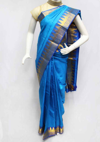 Anandha Blue with Blue Kanchipuram Silk Saree - FR28479 ARRS Silks