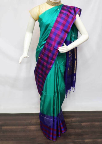 Aqua Green Soft Silk Saree - FP56257 ARRS Silks