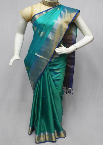 Aqua Green Soft Silk Saree -FQ110825 ARRS Silks