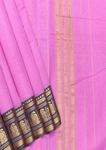 Baby Pink Pure Cotton 9.5 yards Saree - FT13314 ARRS Silks