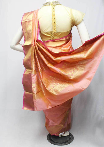 Baby Pink Silk Cotton Saree - FR61257 ARRS Silks
