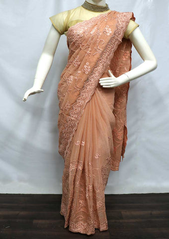 Beach Color Designer Saree - NCU22896 ARRS Silks